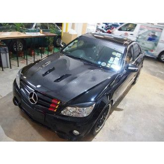 Boca Carbon Motorhaube Black-Series-Style für Mercedes Benz C-Klasse W204 C180|C200|C250|C300 Limousine Vorfacelift