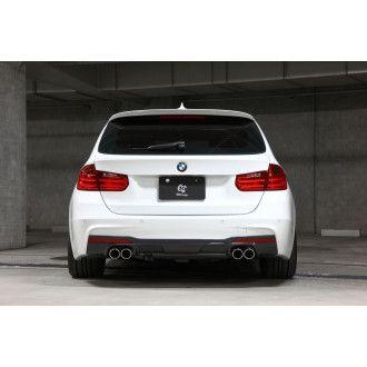 3DDesign Carbon Diffusor für BMW 3er F30 F31 mit M-Paket für Duplex AGA