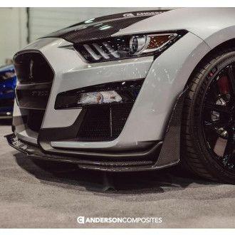 Anderson Composites Carbon erweiterte Frontsplitter für Ford Shelby Gt500 2020 Style GT500