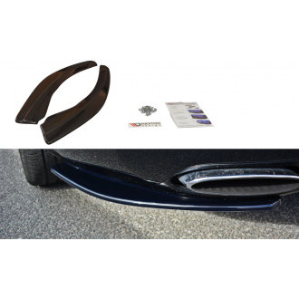 Maxton Design Diffusor-Erweiterungen für Bentley Continental GT schwarz hochglanz
