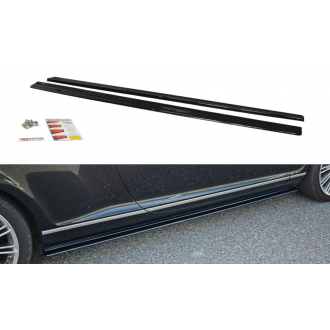 Maxton Design Seitenschweller für Bentley Continental GT schwarz strukturiert unbearbeitet