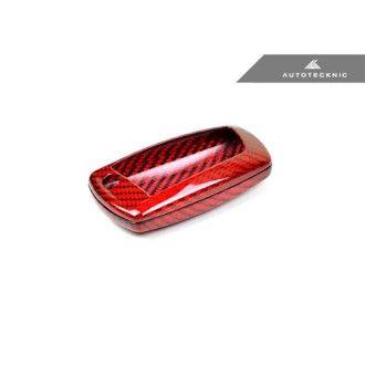 Autotecknic Trockencarbon Schlüsselcover für BMW F-Serie rot