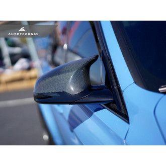 Autotecknic Carbon Ersatz-Spiegelkappen für BMW 3er|4er F80|F82 M3|M4 1x1 Plain Carbon