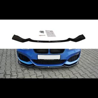 Maxton Design Frontlippe für BMW 1er F20|F21 Facelift schwarz hochglanz