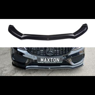 Maxton Design Frontlippe für Mercedes C-Klasse W205 C43 AMG schwarz strukturiert