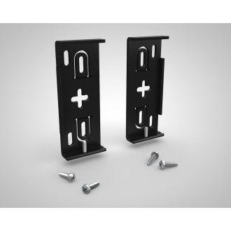 Alu Nummernschildhalter - AluFixx 2.0 Premium - schwarz matt eloxiert