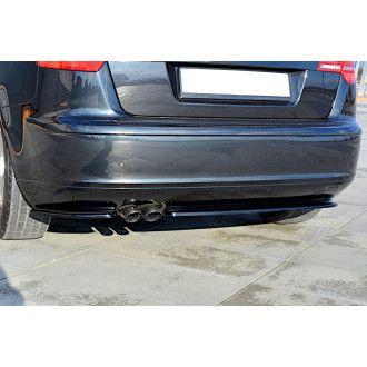 Maxton Design Diffusor für Audi A3 8P Facelift schwarz strukturiert