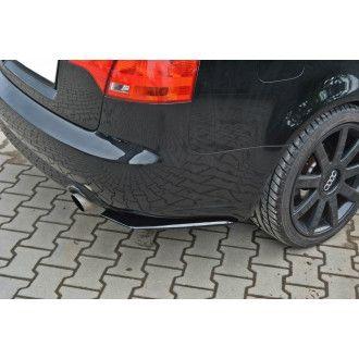 Maxton Design Diffusor-Erweiterungen für Audi A4 B7 schwarz strukturiert