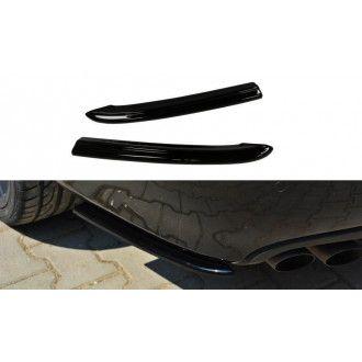 Maxton Design Diffusor Seiten Erweiterungen Flaps für Audi A4 B8 S4|RS4 Vorfacelift schwarz hochglanz