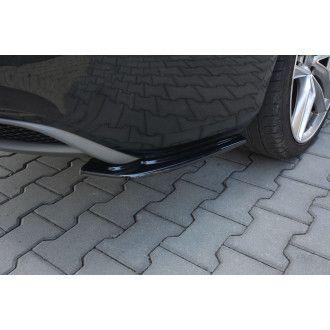 Maxton Design Diffusor-Erweiterungen für Audi A5 8T S-Line Facelift schwarz strukturiert