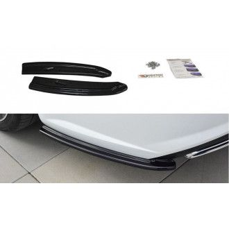 Maxton Design Diffusor-Erweiterungen für Audi A6 C7 S6|S-Line Facelift Kombi schwarz hochglanz