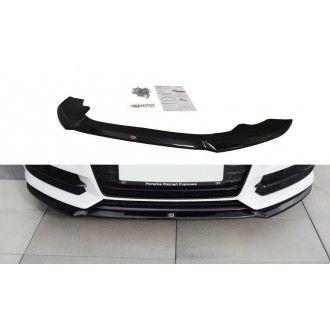 Maxton Design Frontlippe V.1 für Audi A6 C7 S6|RS6 S-Line Facelift schwarz hochglanz