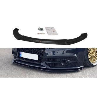 Maxton Design Frontlippe für Audi A7 C7 S7|S-Line schwarz strukturiert unbearbeitet