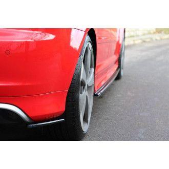 Maxton Design Diffusor-Erweiterungen für Audi 8P RS3 schwarz strukturiert
