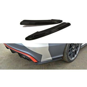 Maxton Design Diffusor-Erweiterungen für Audi C7 RS6 Facelift schwarz hochglanz