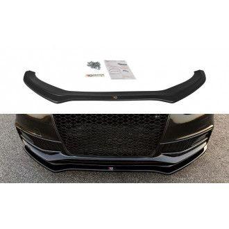 Maxton Design Frontlippe für Audi A4 B8 S4 Facelift schwarz hochglanz