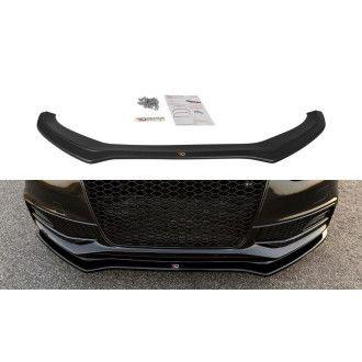 Maxton Design Frontlippe V.2 für Audi A4 B8 S4|RS4 Facelift schwarz hochglanz