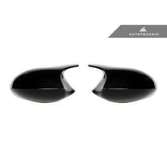 Autotecknic ABS Spiegelkappen für BMW 3er 1er E90E92 E93 E82 Vorfacelift Glazing Black