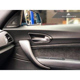 Autotecknic Trockencarbon Innentürgriff-Verkleidung für BMW 1er|2er F20|F22|F87 M2 ohne Lichtpaket matt