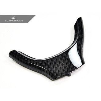 AutoTecknic Carbon-Lenkrad-Dekorblende - F10 5er / F01 7 Series / F07 5er GT für Serienlenkrad (nicht für M / M-Paket)