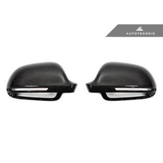 AutoTecknic Ersatz Carbon Spiegelkappen für Audi 8P A3/S3 | B8 A4/S4 | 8T A5/S5 ohne Side Assist