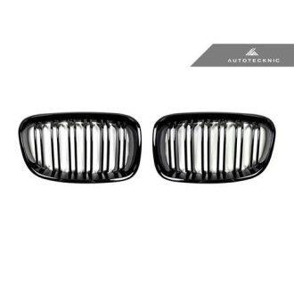 AutoTecknic Glazing Black Doppellamellen Kühlergrill für F20 1er
