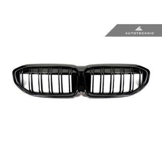 Autotecknic Glazing Black Kühlergrill für BMW 3er G20 M340i|320i|330i|340i|M-Paket Dopellamellen