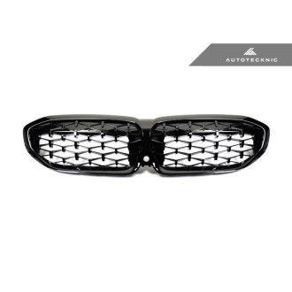 Autotecknic Glazing Black Kühlergrill für BMW 3er G20 M340i|320i|330i|340i|M-Paket