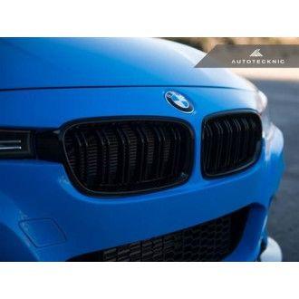 AutoTecknic Glazing Black Kühlergrill für Doppellamellen für F30