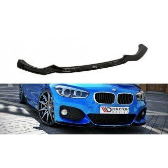 Maxton Design Frontlippe V.1 für BMW 1er F20|F21 M-Paket Facelift schwarz hochglanz