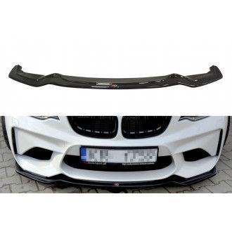 Maxton Design Frontlippe für BMW 2er F87 M2 schwarz hochglanz