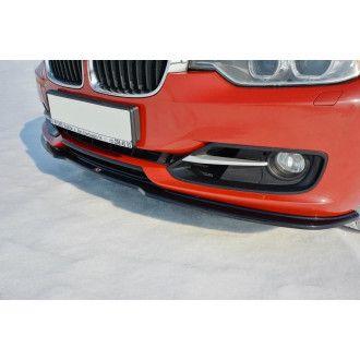 Maxton Design Frontlippe für BMW 3er F30 schwarz hochglanz