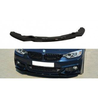 Maxton Design Frontlippe für BMW 4er F32 M-Paket schwarz hochglanz