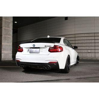 3DDesign Carbon Diffusor Duplex AGA für BMW 2er F22 mit M-Paket
