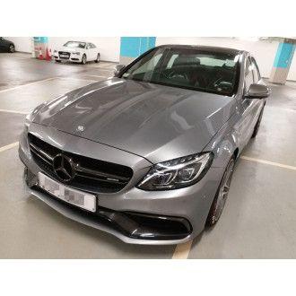 Boca Carbon Motorhaube Black-Series-Style für Mercedes Benz C-Klasse W205|C205 C200|C250|C300|C43 AMG nur AMG-Paket
