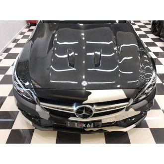 Boca Carbon Motorhaube Black-Series-Style für Mercedes Benz C-Klasse W205|C205 C63 AMG|C63S AMG Limo & Coupe