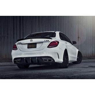 Boca Carbon Diffusor Agressive für Mercedes Benz C-Klasse W205|C205|S205 C200|C250|C300|C43 AMG|C63 AMG|C63S AMG nur AMG-Paket