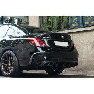 Boca Carbon Heck Einsätze Mercurie für Mercedes Benz C-Klasse W205 C200|C250|C300|C43 AMG|C63 AMG|C63S AMG Limousine nur AMG-Paket