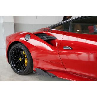 Capristo Carbon Luftauslassrippen vorne fuer Ferrari 488 GTB