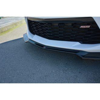 Maxton Design Frontlippe V.1 für Chevrolet Camaro MK6 Coupe schwarz hochglanz