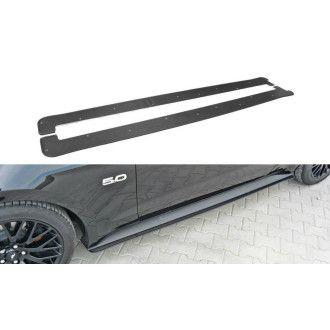 Maxton Design Seitenschweller Ansatz für Ford Mustang MK6 schwarz plastik unverarbeitet