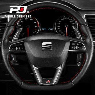 Leyo Aluminium Schaltwippen für SEAT schwarz V1