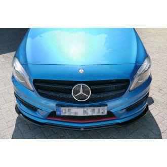 Maxton Design Frontlippe für Mercedes Benz A-Klasse W176 AMG AMG Paket Vorfacelift Carbon Look