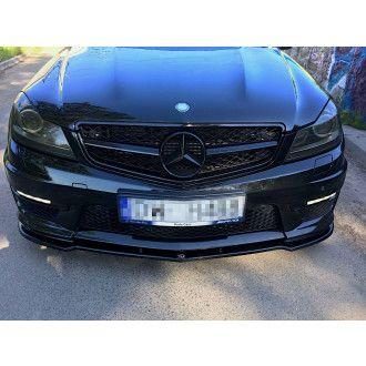 Maxton Design Frontlippe für Mercedes C-Klasse W204 C63 AMG Facelift schwarz hochglanz