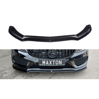 Maxton Design Frontlippe für Mercedes C-Klasse W205 C43 AMG schwarz hochglanz