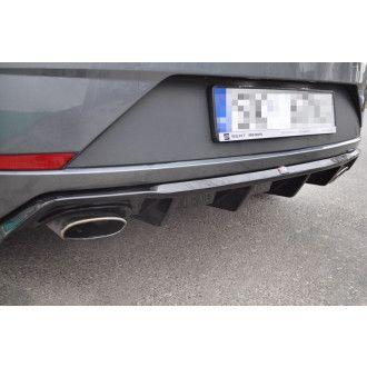 Maxton Design Diffusor für Seat Leon MK3 Cupra Facelift Carbon Look