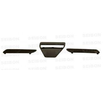 Seibon Carbon Lufteinlässe für Mitsubishi Lancer Evolution X 2008 - 2012 Motorhauben Lufteinlass Ramair OE-Style