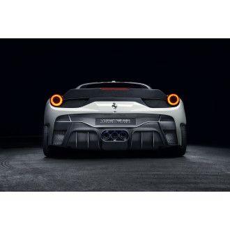 Vorsteiner 458-VX Aero Carbon Heckstoßstange mit Heckdiffusor (inkl. Auspuffblenden) für Ferrari 458 Italia