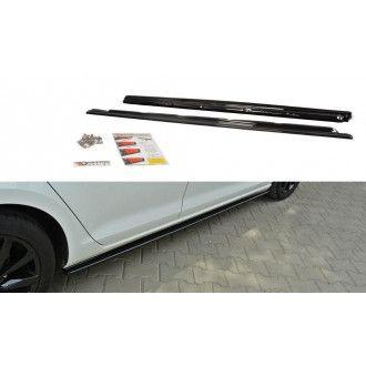 Maxton Design Seitenschweller für Volkswagen Golf MK7|Golf 7 Serie schwarz hochglanz