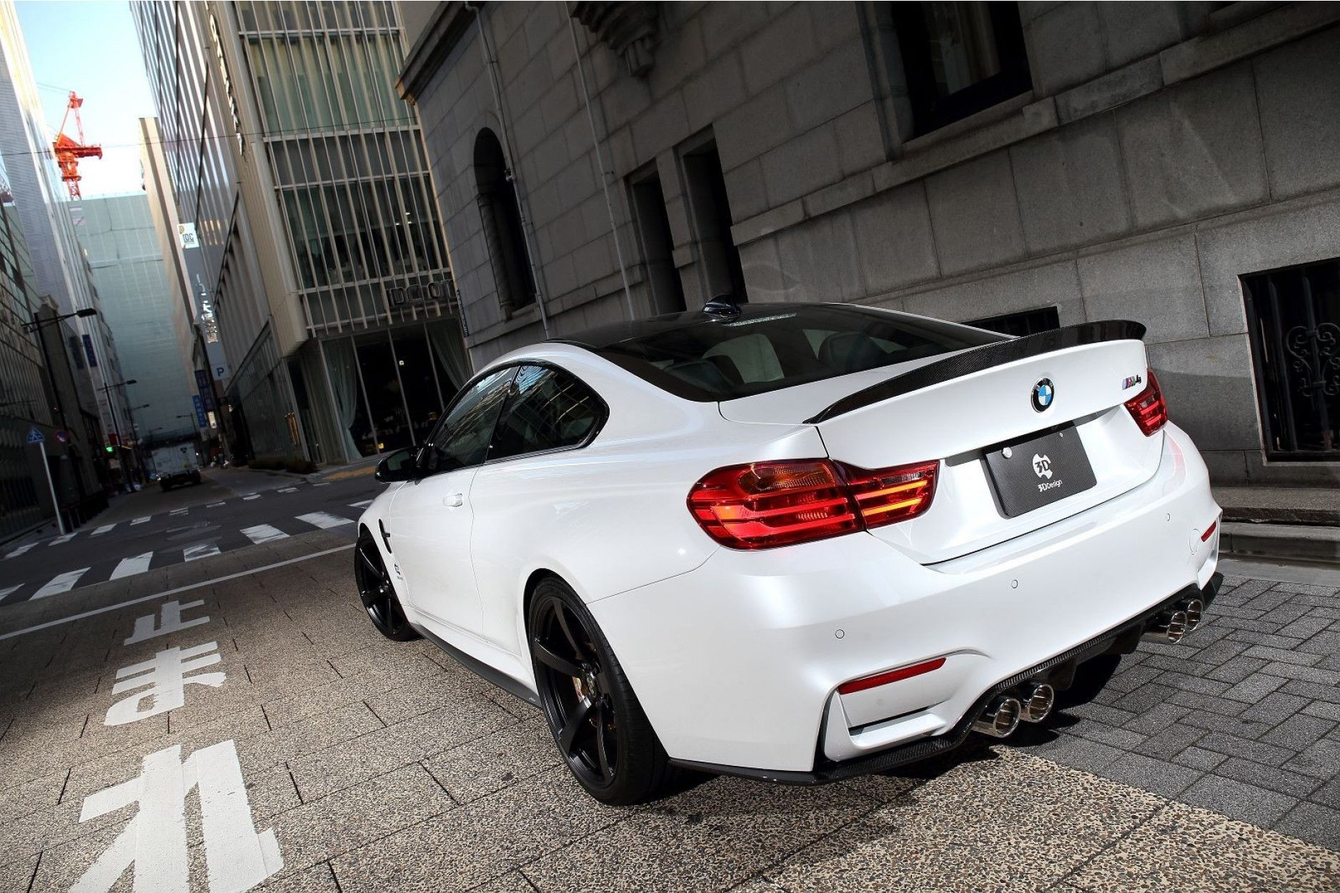 3Ddesign carbon diffuser for BMW 3 Series F80 F82 M4 M3 4p